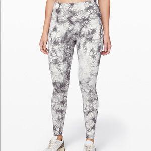 Lululemon white/gray wunder under pants